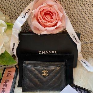 Chanel Black Calfskin Cardholder